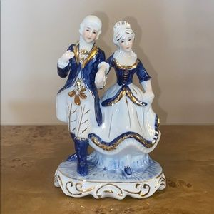 Vintage Victorian Couple Porcelain Figurine